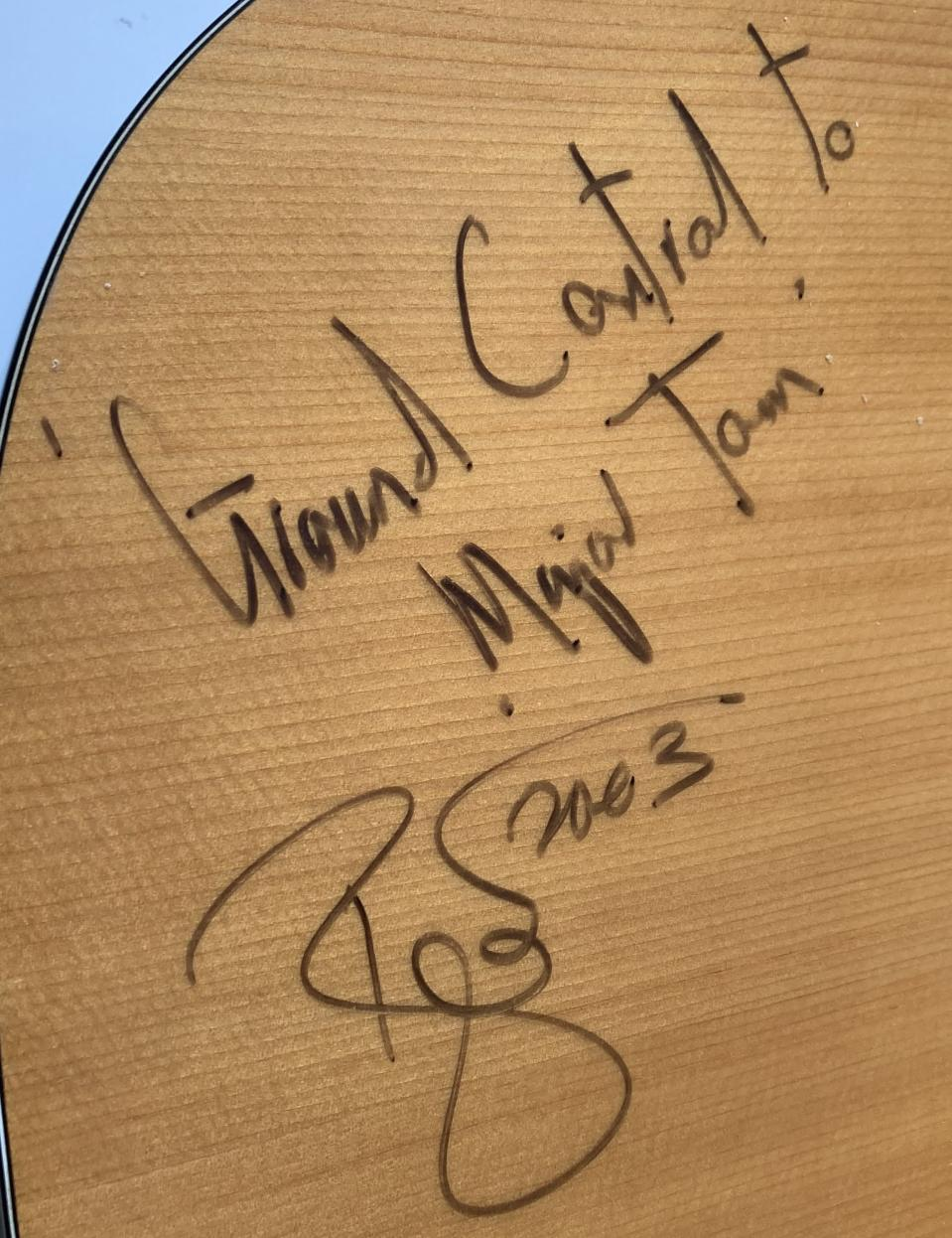 The guitar could fetch thousands of pounds
