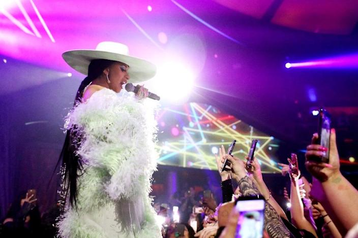 Cardi B performs at the new Kaos club in Las Vegas, where concert residencies are making a comeback as the city appeals to the young and hip (AFP Photo/Roger Kisby)