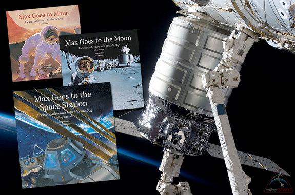 "Jeffrey Bennett's storybooks, including ""Max Goes to the Space Station"" are launching to the real International Space Station on Orbital Sciences' Cygnus cargo ship."