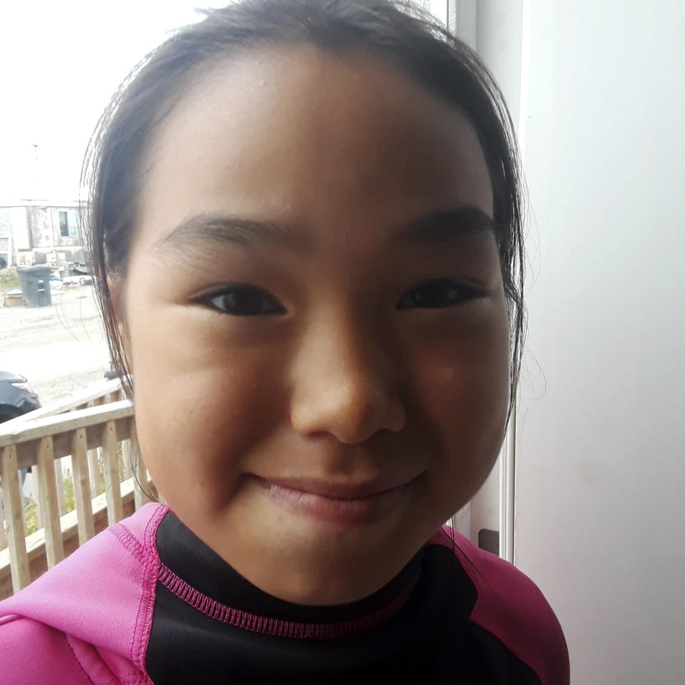 This undated photo provided by Scotty Barr shows his daughter Ashley Johnson Barr, who was killed in Kotzebue, Alaska, in September 2018. Peter Wilson of Kotzebue, Alaska, has pleaded guilty to first-degree murder and sexual abuse of a minor in Ashley's death, and will be sentenced Sept. 21, 2021, in Kotzebue. (Courtesy of Scotty Barr via AP)