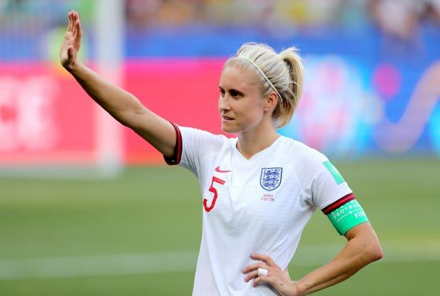 Steph Houghton will continue as England captain for the next two matches at least.