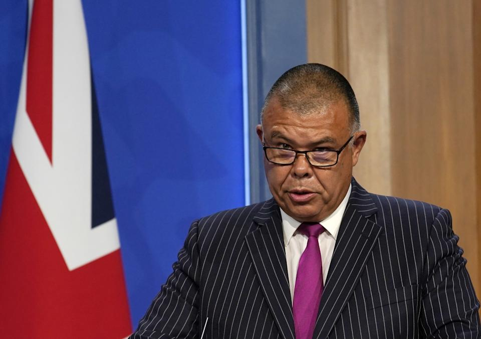 Deputy chief medical officer for England Professor Jonathan Van Tam, during a media briefing in Downing Street, London, on coronavirus (Covid-19). Picture date: Monday July 19, 2021.