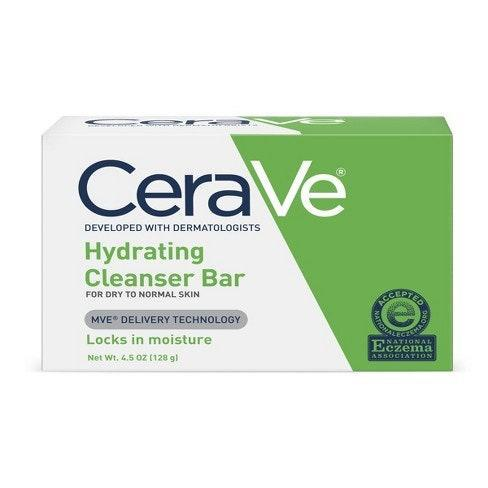 """<p>""""I have some patients who hate washing their face, so I love having a bar soap that's gentle, doesn't cause breakouts, and can be used in the shower,"""" recommends Sarkar, who says the gentle, non-drying CeraVe Hydrating Cleanser Bar meets all of those criteria and doesn't interact with any topical prescription medicines.</p> <p><strong>$7</strong> (<a href=""""https://www.amazon.com/CeraVe-Hydrating-Cleansing-Non-Soap-Alternative/dp/B00U6QFEJU"""" rel=""""nofollow noopener"""" target=""""_blank"""" data-ylk=""""slk:Shop Now"""" class=""""link rapid-noclick-resp"""">Shop Now</a>)</p>"""