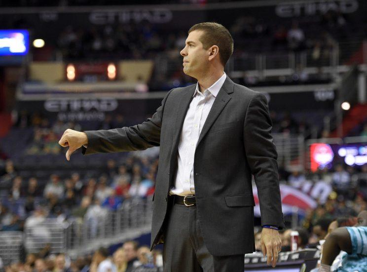 Brad Stevens isn't the only one giving his Celtics team a thumbs down. (AP)