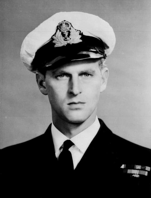 The Duke of Edinburgh in his Navy days