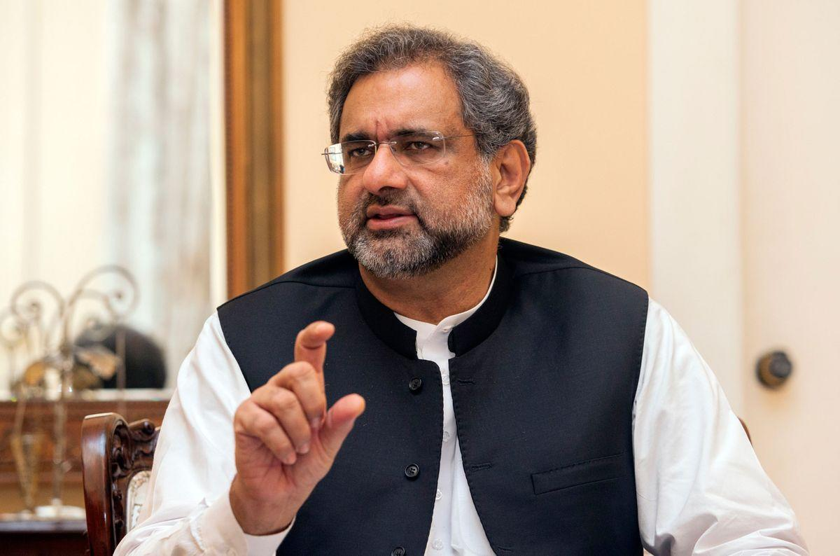 Shahid Khaqan Abbasi, prime minister of Pakistan, speaks during an interview in Karachi, Pakistan on Saturday, Aug 26, 2017.