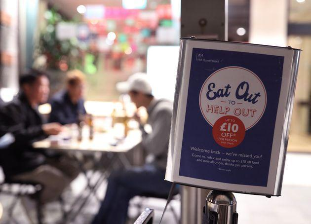 The Eat Out To Help Out Scheme gave diners a state-backed 50% discount on meals between Mondays and Wednesdays