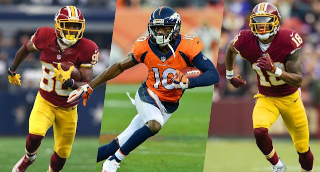 Our gurus reveal their favorite fantasy receiver bargains, with two experts liking options in Washington.