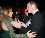 """<p>No matter how friendly the conversation gets, it's a breach of protocol to <a href=""""https://www.marieclaire.com/culture/g4985/strict-rules-the-royal-family-has-to-follow/?slide=19"""" rel=""""nofollow noopener"""" target=""""_blank"""" data-ylk=""""slk:touch a royal"""" class=""""link rapid-noclick-resp"""">touch a royal</a> without permission. J.Lo must have missed this memo when she met Prince William and Kate Middleton on their California tour in 2011. </p>"""