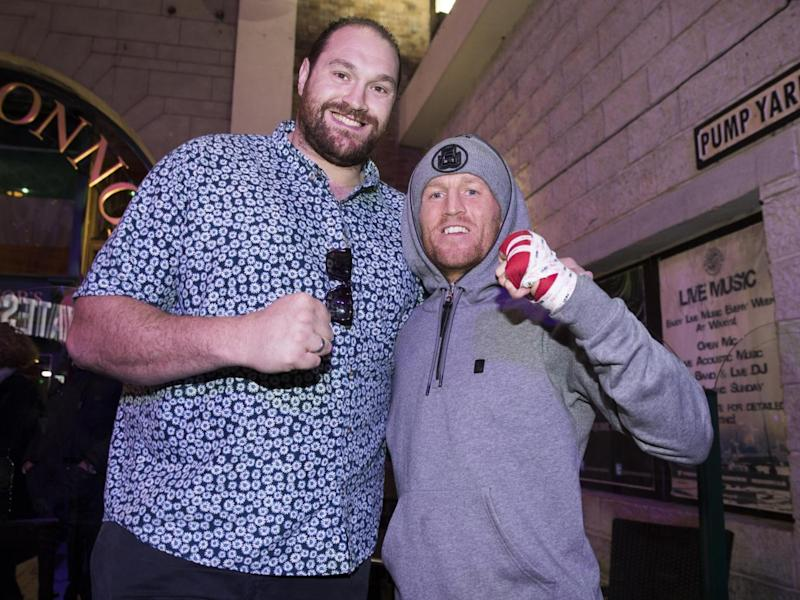 Fury was out supporting Terry Flanagan ahead of his title defence (Getty)