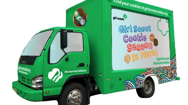 Cookie Truck Debuts for National Girl Scout Cookie Day