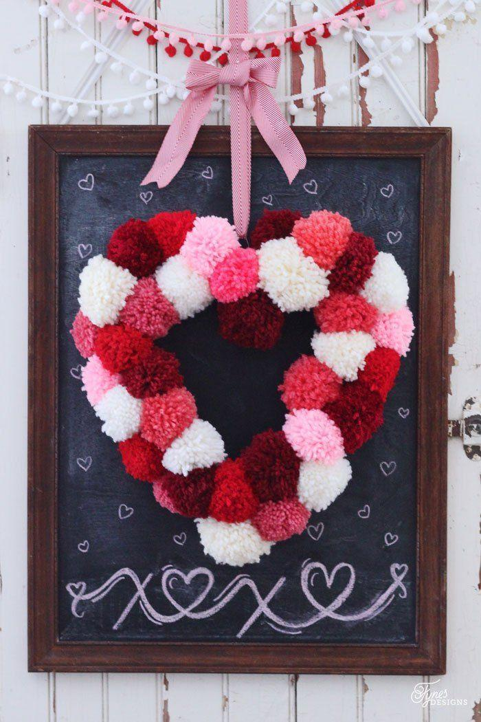 """<p>The multi-toned color palette offers a pretty variation to plain red and pink, adding a pop of love and cheer to any front door.</p><p><a class=""""link rapid-noclick-resp"""" href=""""https://www.amazon.com/Mira-Handcrafts-Assorted-Colors-Acrylic/dp/B01IDI35HA?tag=syn-yahoo-20&ascsubtag=%5Bartid%7C10055.g.2020%5Bsrc%7Cyahoo-us"""" rel=""""nofollow noopener"""" target=""""_blank"""" data-ylk=""""slk:SHOP YARN"""">SHOP YARN</a></p><p><em><a href=""""http://www.fynesdesigns.com/make-heart-shaped-wreath-form/"""" rel=""""nofollow noopener"""" target=""""_blank"""" data-ylk=""""slk:Get the tutorial at Fynes Designs »"""" class=""""link rapid-noclick-resp"""">Get the tutorial at Fynes Designs »</a></em><br></p>"""