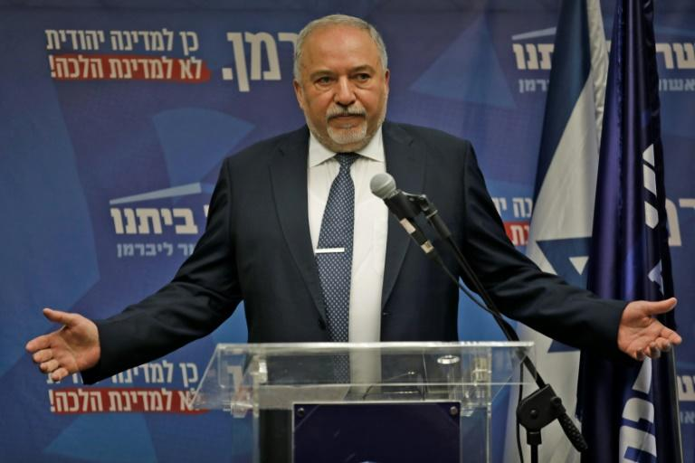 Avigdor Lieberman, whose secular nationalist Yisrael Beitenu party has eight seats and holds the balance of power, could decide to throw his support behind either bloc (AFP Photo/Menahem KAHANA)