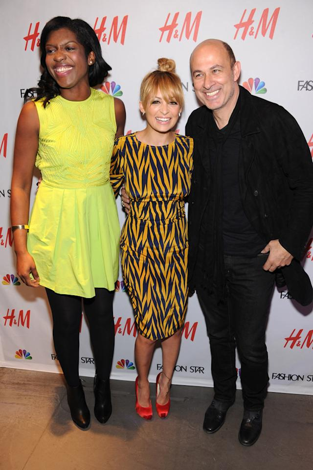 "H&M buyer Nicole Christie, Nicole Richie, and Designer John Varvatos attend the NBC ""<a target=""_blank"" href=""http://tv.yahoo.com/fashion-star/show/47285"">Fashion Star</a>"" event at the H&M Flagship Store on April 24, 2012 in New York City."