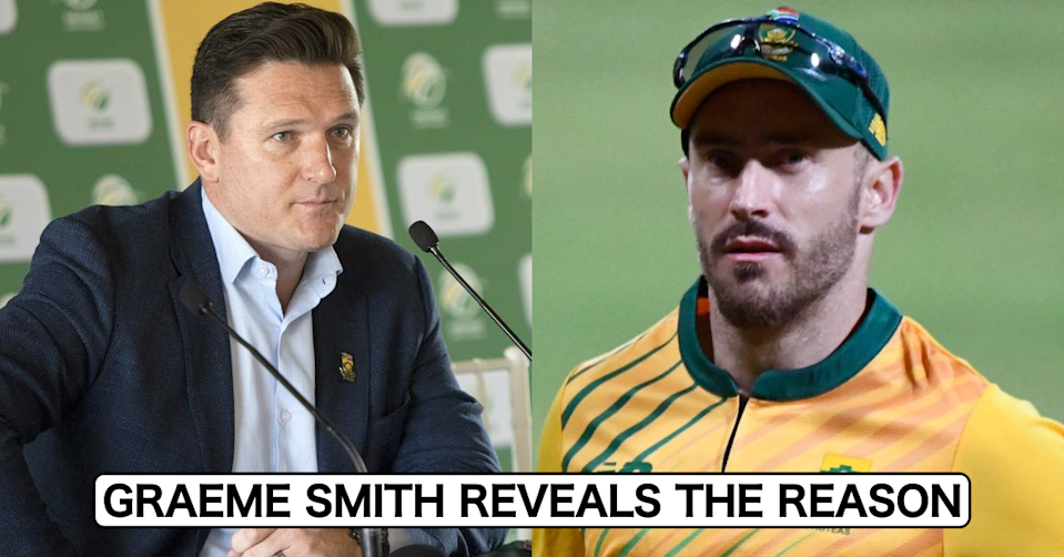 Graeme Smith Reveals Why Faf du Plessis Missed Out On South Africa's Squad For T20 World Cup 2021