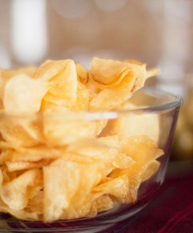 Homemade chips are the best. Photo: Getty
