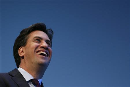 Britain's leader of the opposition Labour Party Miliband attends the annual Labour Party Conference in Brighton, southern England