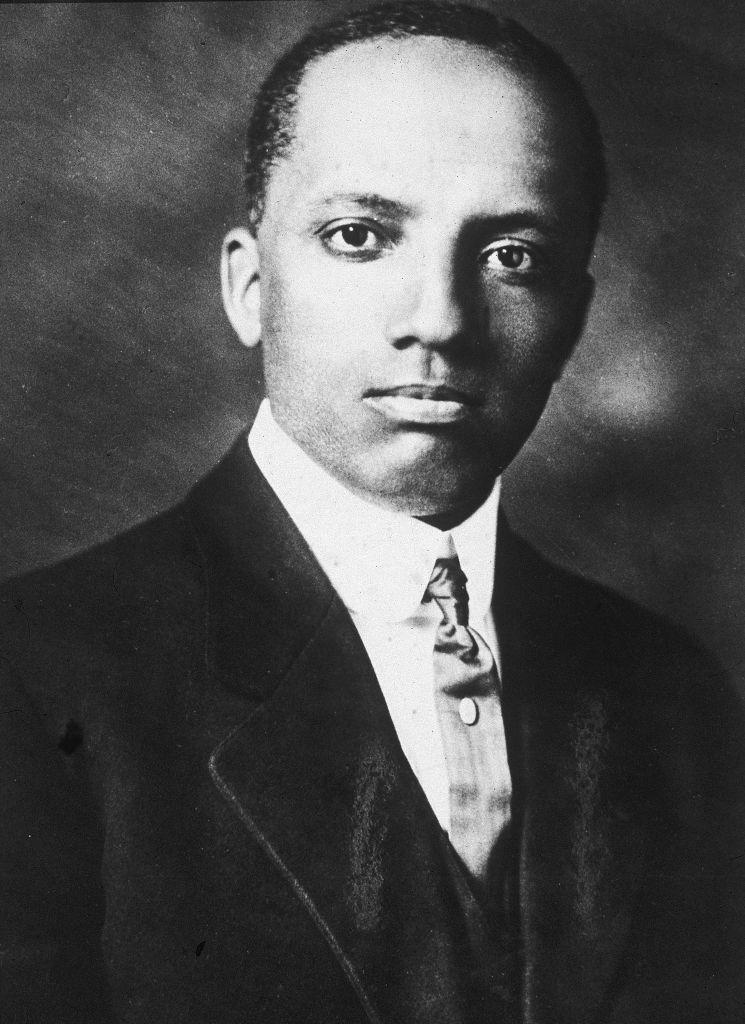 A circa -910s portrait of historian and educator Carter G. Woodson. | Hulton Archive—Getty Images