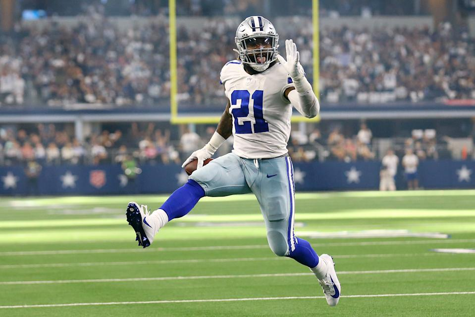 Ezekiel Elliott and the Cowboys are off to a great start. (Photo by Richard Rodriguez/Getty Images)