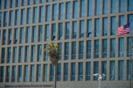 FILE PHOTO: A view of the U.S. Embassy in Havana