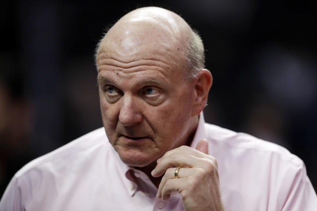 Steve Ballmer resisted talking numbers, but offered up some estimates when pressed by Bloomberg. (AP Photo/Marcio Jose Sanchez)