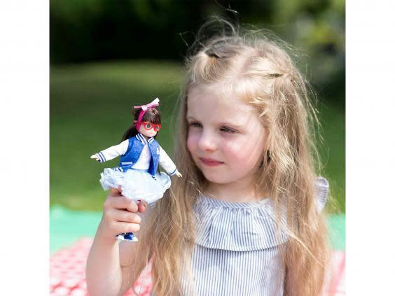 Thanks to a stylish pair of specs, this doll will ease an owner conscious of their own (Amazon)