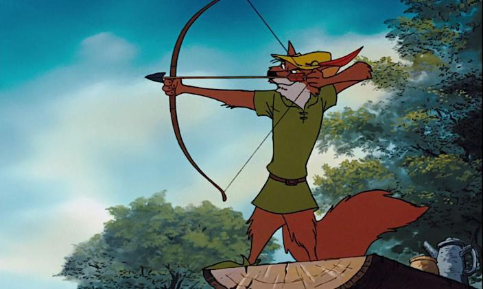 """<p>If as a child you found yourself strangely attracted to the fox at the center of Disney's animal-centric retelling of the folk tale, <a href=""""http://www.xojane.com/fun/my-first-love-was-disneys-robin-hood-and-five-other-animated-crush-confessions"""" rel=""""nofollow noopener"""" target=""""_blank"""" data-ylk=""""slk:you are not alone"""" class=""""link rapid-noclick-resp"""">you are not alone</a>. That silky British voice—c'mon! Many attempts have been made to capture the spirit of the outlaw hero who stole from the rich to give to the poor, but none have endured quite like this alluring Disney take.</p>"""