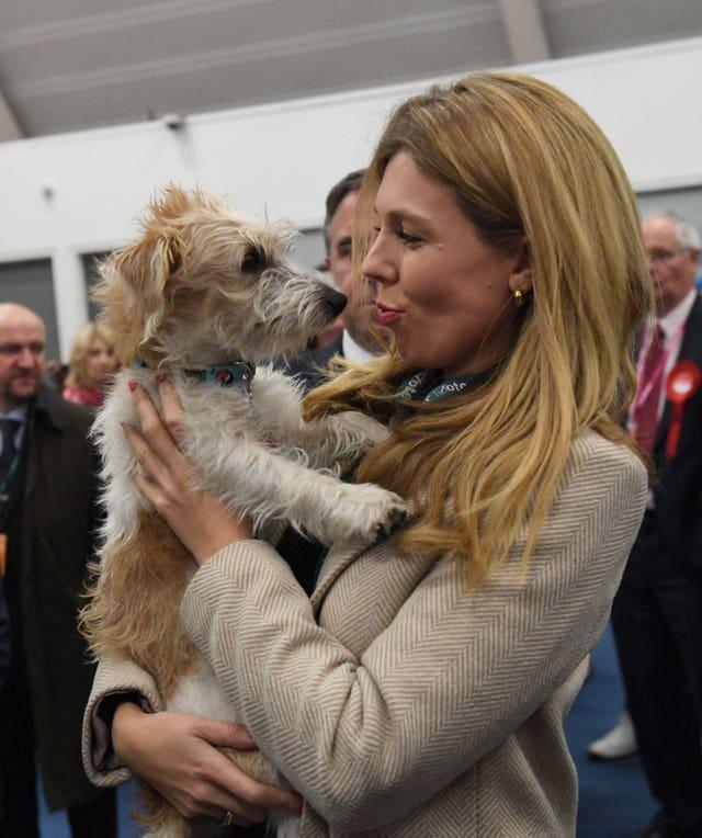 Carrie Symonds and her dog Dilyn