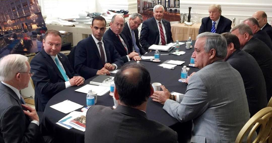 George Papadopoulos, third from left, meets with then presidential candidate Donald Trump in Washington. (Photo: Courtesy of @realDonaldTrump/Instagram)