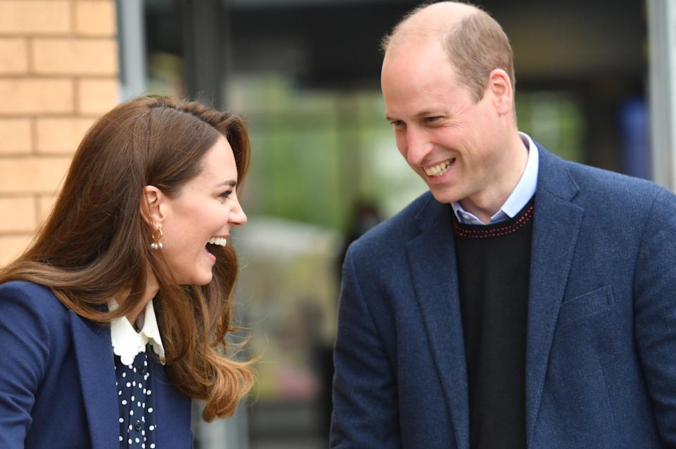 WOLVERHAMPTON, ENGLAND - MAY 13: Prince William, Duke of Cambridge and Catherine, Duchess of Cambridge take part in a gardening session during a visit to The Way Youth Zone on May 13, 2021 in Wolverhampton, England. (Photo by Jacob King - WPA Pool/Getty Images)