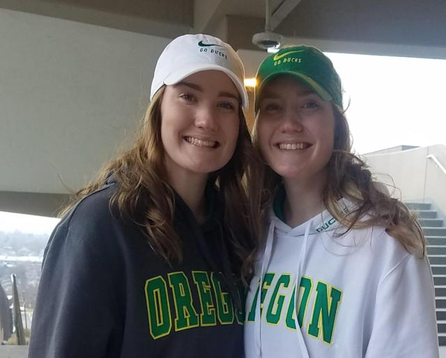 Sabrina Ionescu's education in responsible marketing will filter down to her fans, like Emerson and Avery Leyhue. (Cassandra Negley/Yahoo Sports)