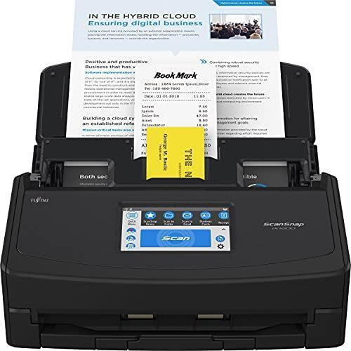 Fujitsu ScanSnap iX1600 Cloud-Enabled Document Scanner for Mac or PC