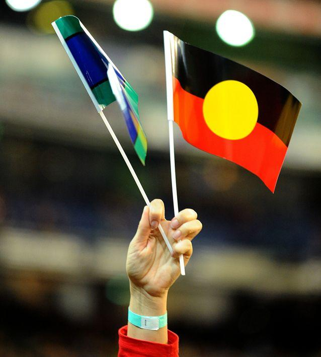 Aboriginal and Torres Strait Islander people are not currently recognised in the anthem. Source: AAP