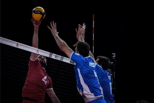 Canada lost in straight sets to Slovenia on Wednesday to fall to 2-5. (Submitted by volleyballworld.com - image credit)