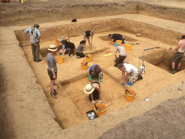 Scientists excavate a 15,000 year old Jersey site where the works were found: Ice Age Island