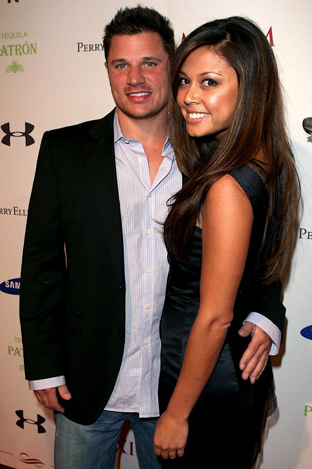 "Despite rumors of relationship troubles, Nick Lachey and Vanessa Minnillo show their solidarity at the Maxim event. Jason Merritt/<a href=""http://www.wireimage.com"" target=""new"">WireImage.com</a> - February 1, 2008"