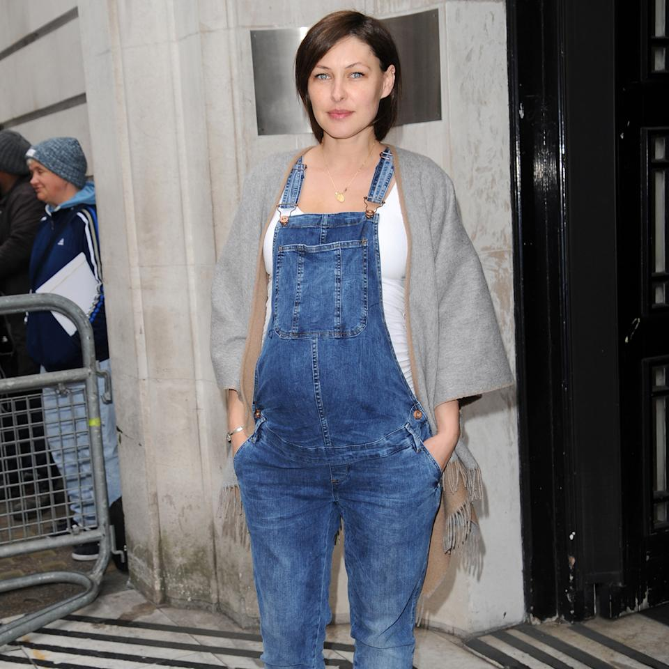 Emma Willis, seen here pregnant with her third child Trixie in 2016, knew she wanted to try for one more baby (Image: Getty Images)