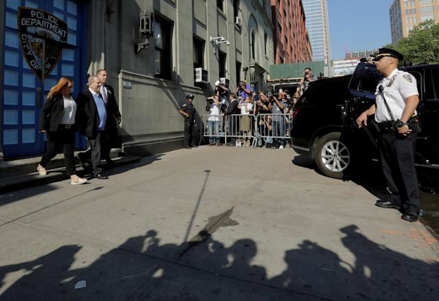 <p>Film producer Harvey Weinstein leaves the 1st Precinct in Manhattan in New York, May 25, 2018. (Photo: Lucas Jackson/Reuters) </p>