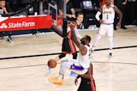 Los Angeles star LeBron James rises for a dunk in the Lakers' championship-clinching victory over the Miami Heat in game six of the NBA Finals