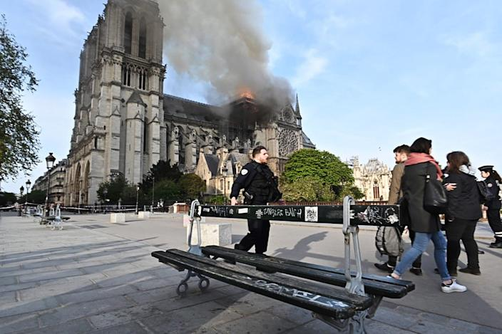 Notre-Dame de Paris, a Catholic cathedral founded in the 11th century, has caught fire. (Photo: Stoyan Vassev/TASS  via Getty Images)
