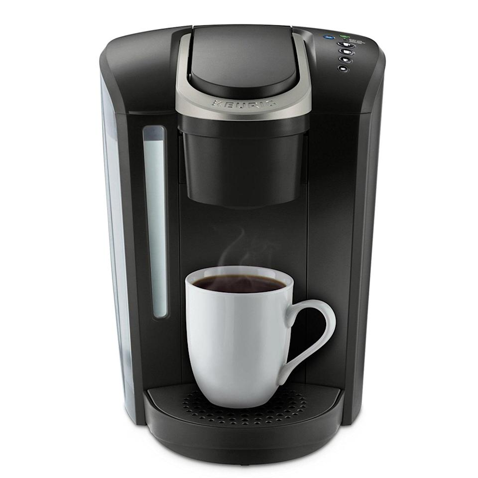 <p>Making her morning coffee will be easier than ever with this <span>Keurig 2.0 K200 Coffee Maker Brewing System</span> ($109, originally $130).</p>