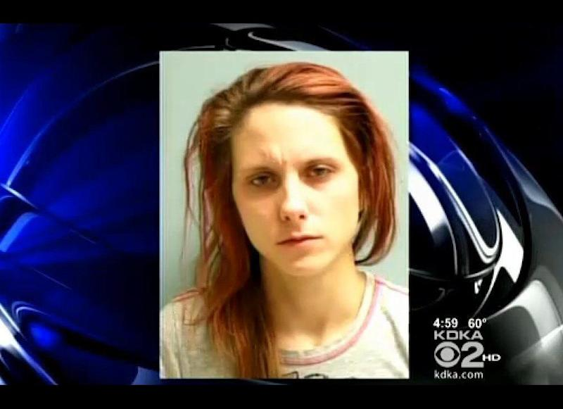 Vanessa Robinson was charged with aggravated assult after she allegedly cut up her boyfriend after he tried leaving her apartment with the last beer -- a Colt 45 to be specific.