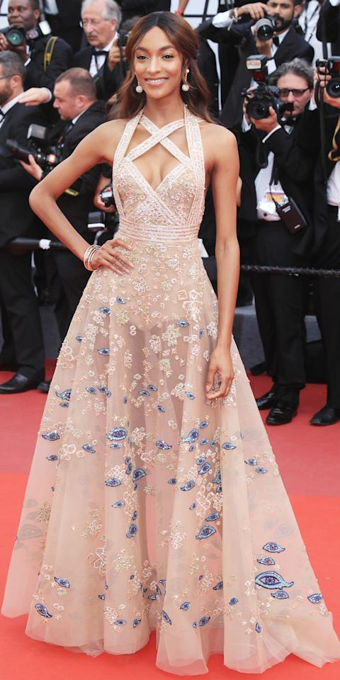<p>in Elie Saab Haute Couture at a screening for <em>The Killing of a Sacred Deer.</em></p>