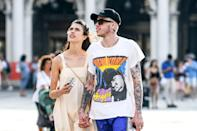 """The <a href=""""https://people.com/movies/pete-davidson-margaret-qualley-date-night-venice-film-festival/"""" rel=""""nofollow noopener"""" target=""""_blank"""" data-ylk=""""slk:rumored couple"""" class=""""link rapid-noclick-resp"""">rumored couple</a> were spotted holding hands in Venice, Italy on Sept. 2, while they were in town for the <a href=""""https://people.com/movies/venice-film-festival-2019-arrivals-photos/"""" rel=""""nofollow noopener"""" target=""""_blank"""" data-ylk=""""slk:Venice Film Festival"""" class=""""link rapid-noclick-resp"""">Venice Film Festival</a>. During their daytime excursion, the actress, who was there promoting her new film, <em>Seberg</em>, wore a sundress and flats, while Davidson had on a graphic tee and shorts."""