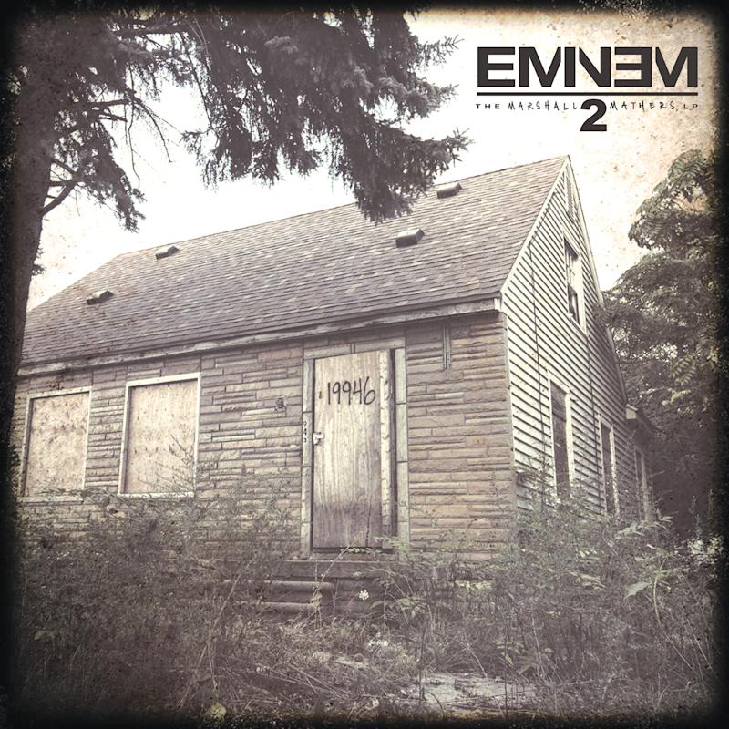 """This CD cover image released by Aftermath shows """"The Marshall Mathers LP2,"""" by Eminem. (AP Photo/Aftermath)"""