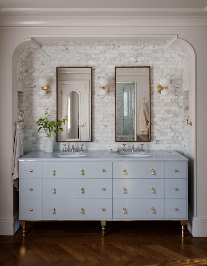 Another bathroom, another charming set of double sinks.
