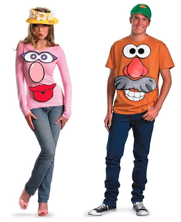 Mr. and Mrs. Potato Head couples costume, best couples costumes, couples costumes 2020