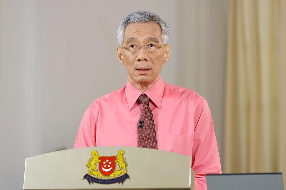 Prime Minister Lee Hsien Loong delivering his national address on 23 June 2020. (PHOTO: Ministry of Communications and Information)