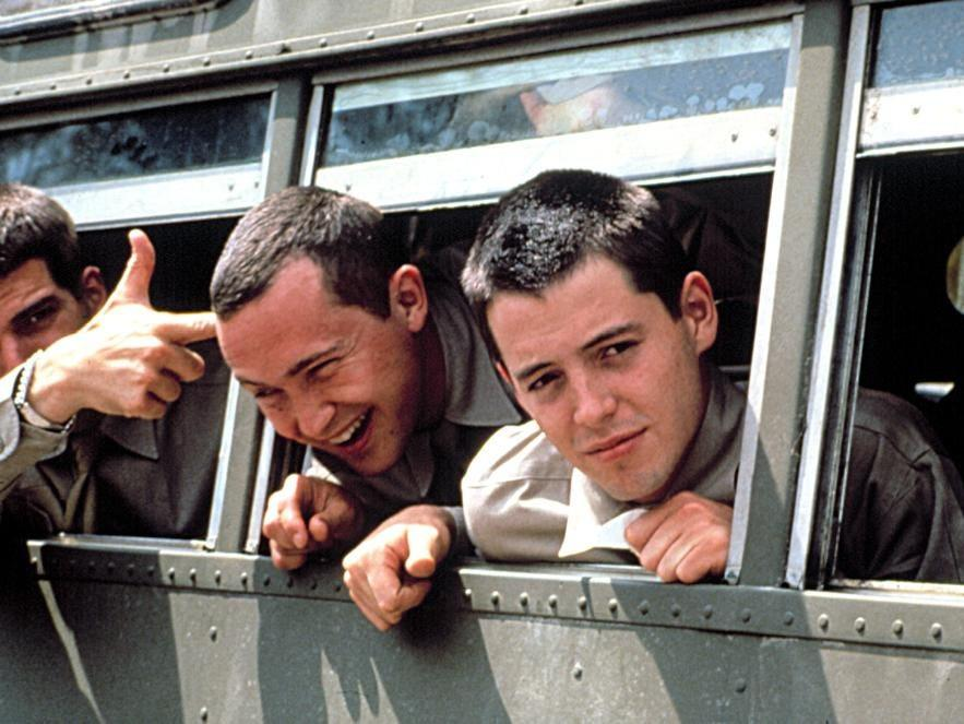 "Matthew Broderick (right) in ""Biloxi Blues."""