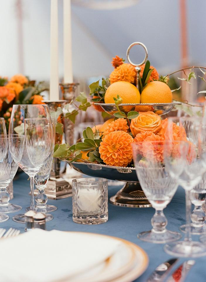 """<p>The fall season presents the perfect opportunity to throw an elegant dinner party. To make it an evening to remember, consider putting a little more thought into your fall dinner table decor. </p><p>From classic flowers to a bounty of fruits or vegetables, your fall centerpiece can take shape however you see fit. Using the tried-and-true formula of color, texture, and natural elements is a great place to start. Whether it's your <a href=""""http://www.elledecor.com/life-culture/food-drink/g10375871/fall-wedding-cakes/"""" target=""""_blank"""">autumn wedding</a> or just  a woodland-inspired dinner party, these 25 fall centerpieces will surely make a statement. <br></p>"""